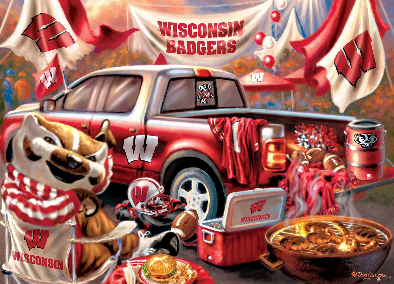 Wisconsin Gameday Football Jigsaw Puzzle