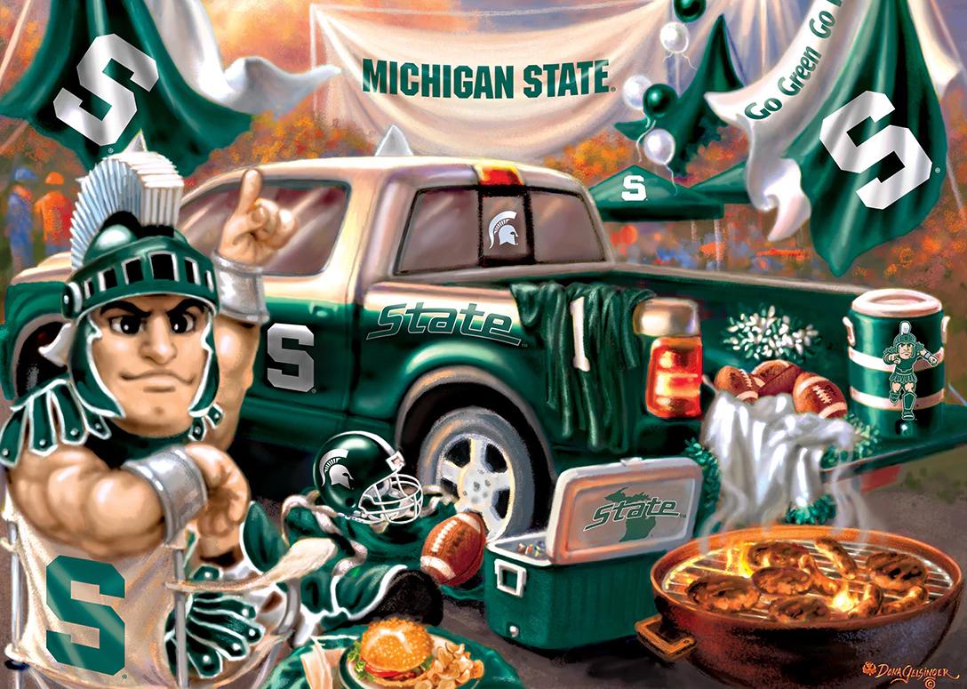 Michigan State Gameday Football Jigsaw Puzzle