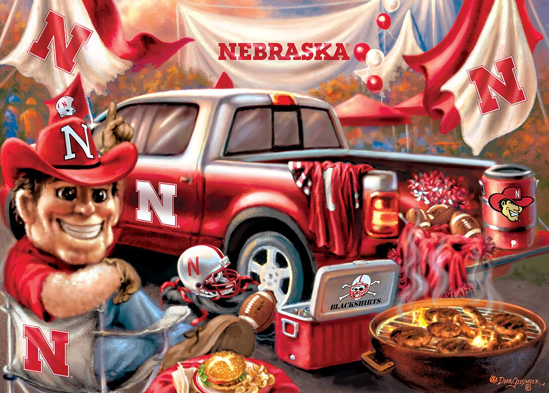 Nebraska Gameday Football Jigsaw Puzzle