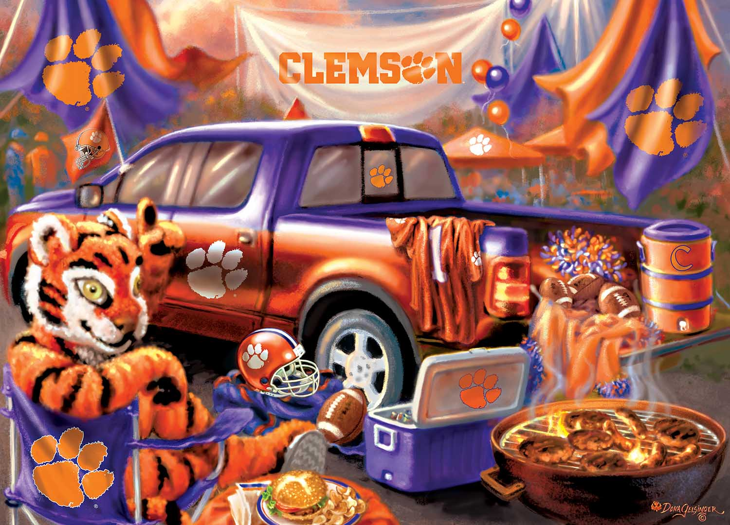Clemson  Gameday Football Jigsaw Puzzle