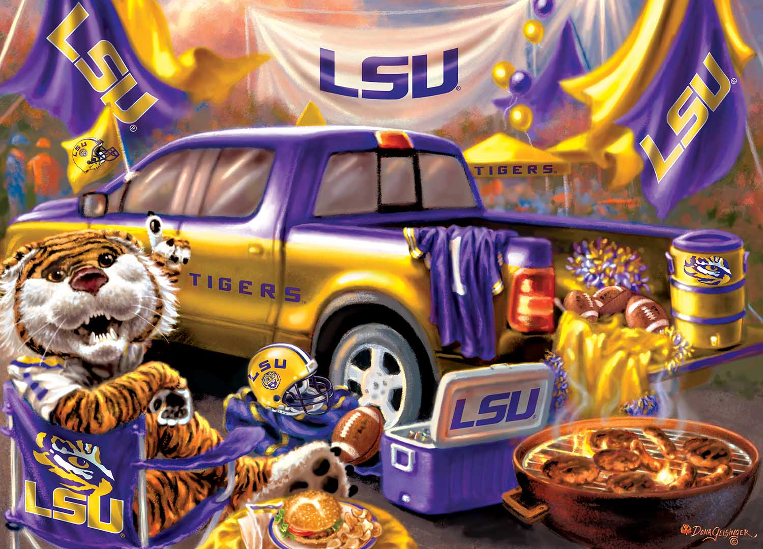 Louisiana State Gameday Football Jigsaw Puzzle