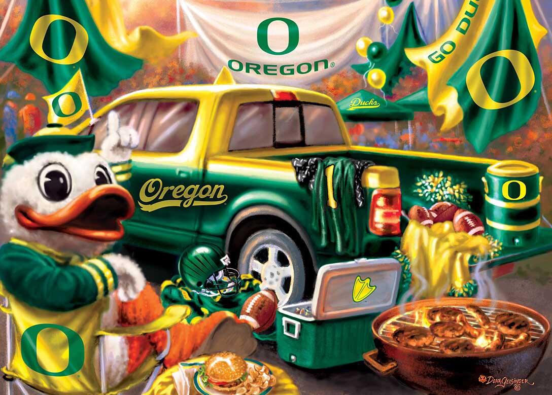 Oregon Gameday Football Jigsaw Puzzle