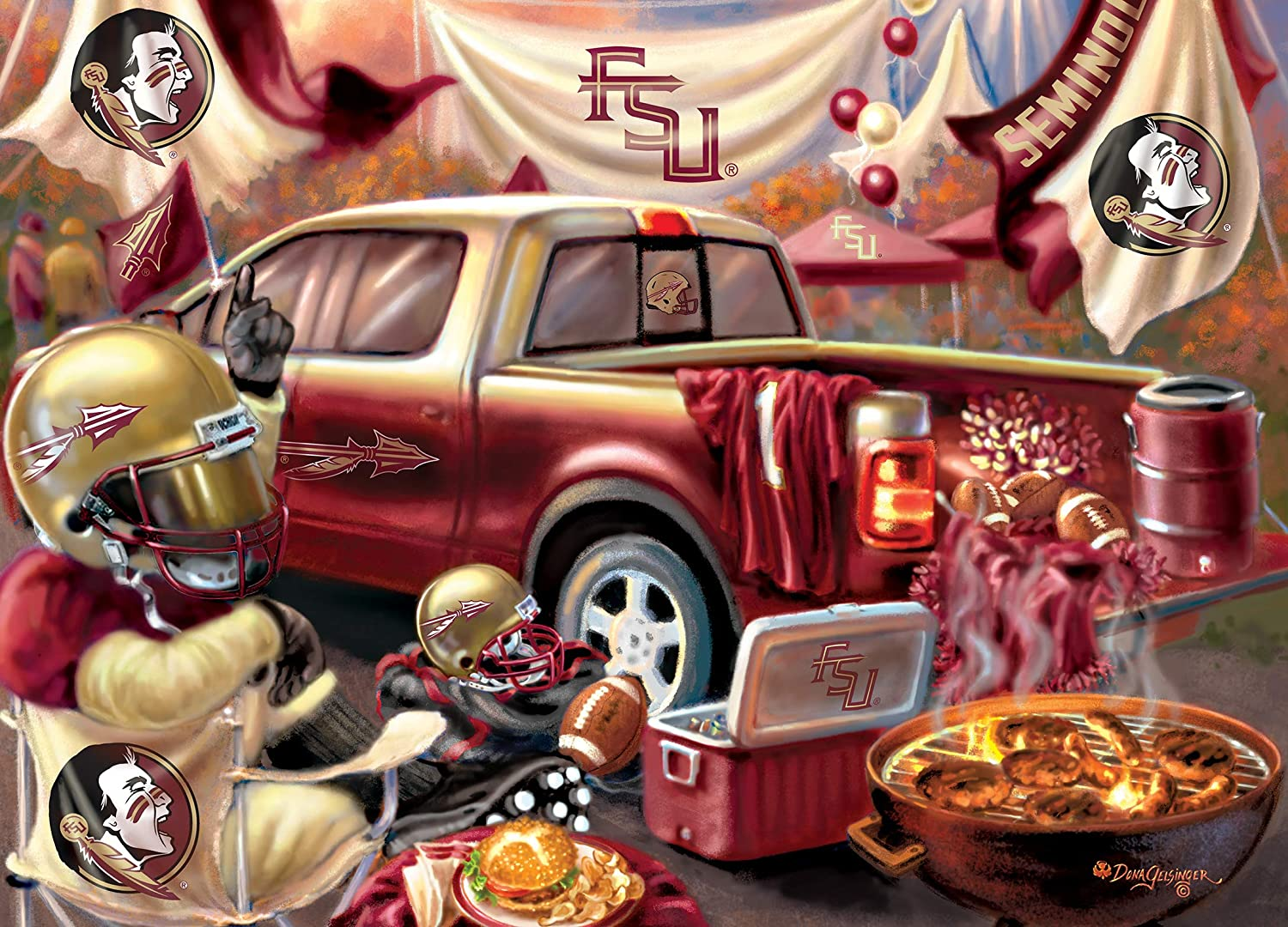 Florida State Gameday Football Jigsaw Puzzle