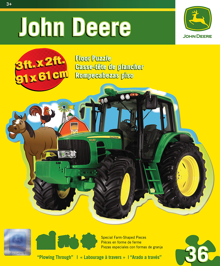 Plowing Through Floor Puzzle - Scratch and Dent John Deere Jigsaw Puzzle