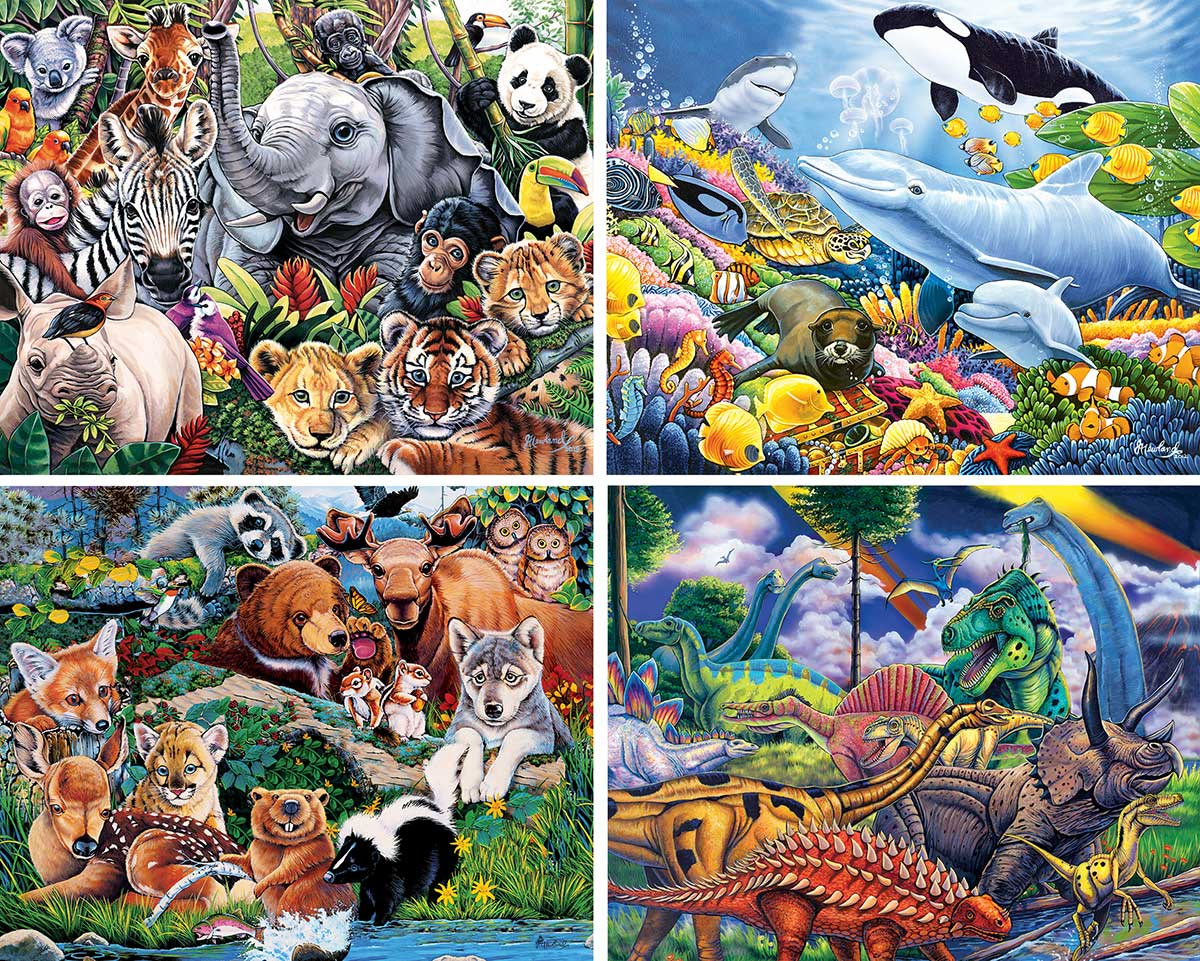 Animal Planet 4-pack Animals Jigsaw Puzzle