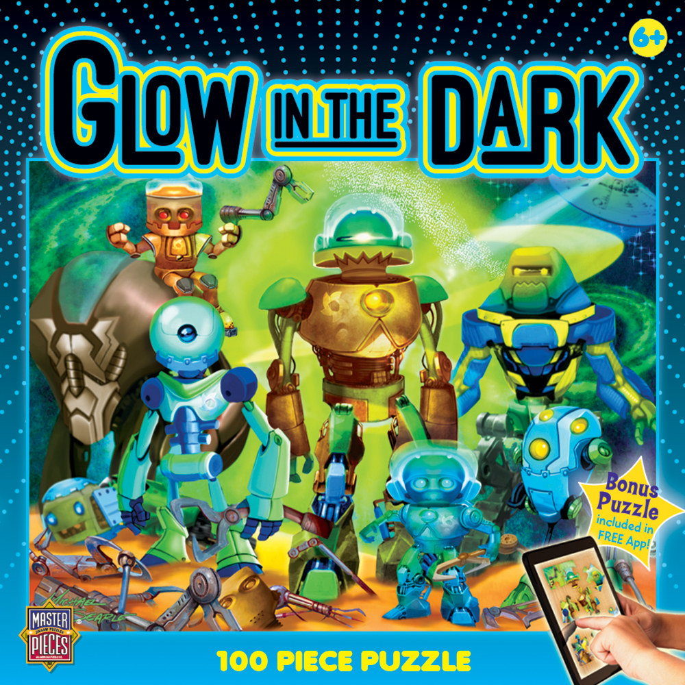 Robots Cartoons Glow in the Dark Puzzle
