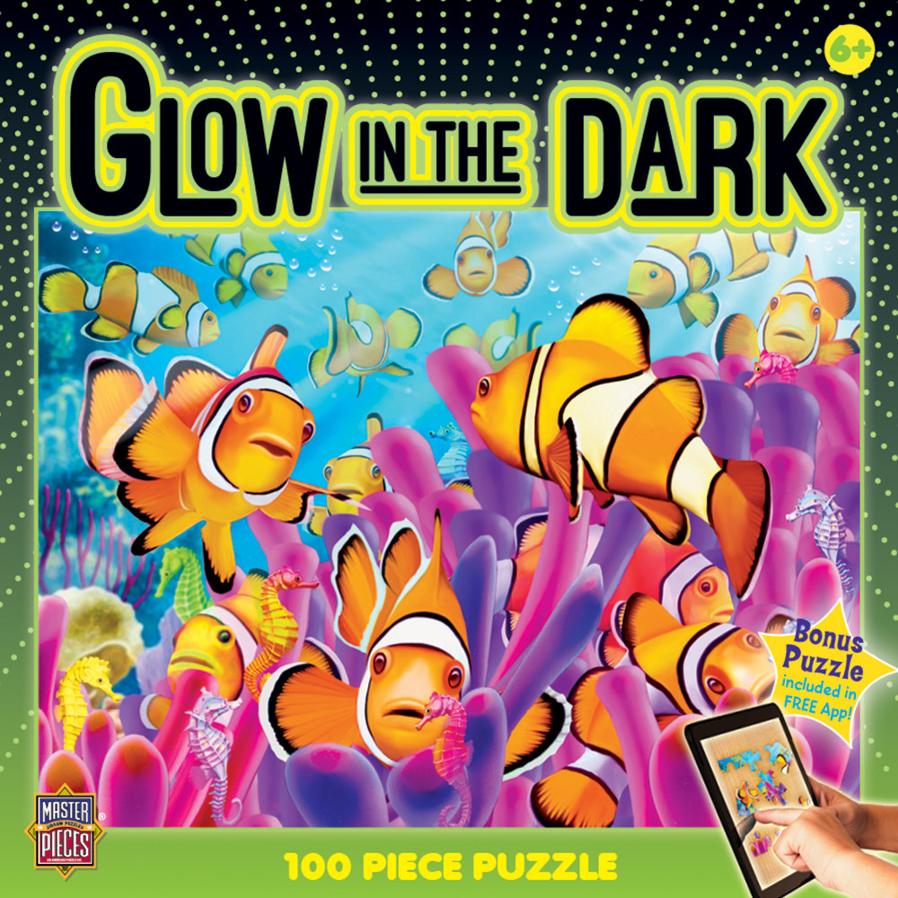Clownfish Fish Glow in the Dark Puzzle