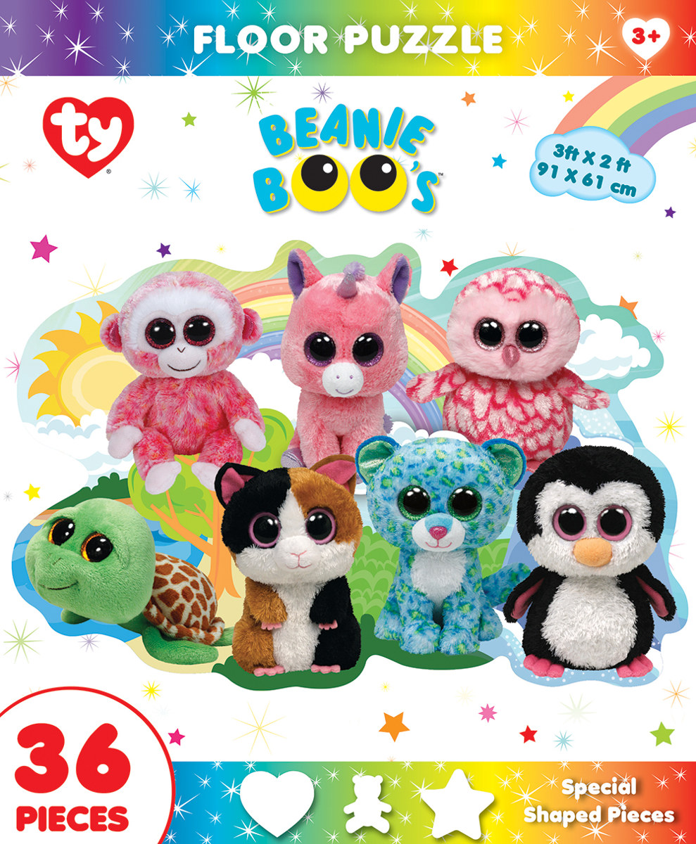 fun at the park ty beanie boo shaped floor puzzle cats jigsaw puzzle