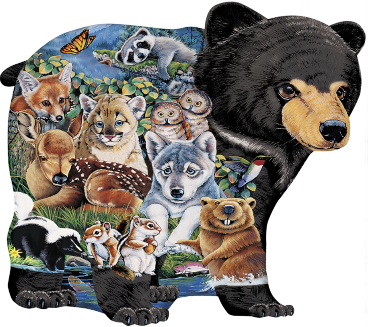 Shaped Forest Friends Right Fit Wildlife Shaped Puzzle
