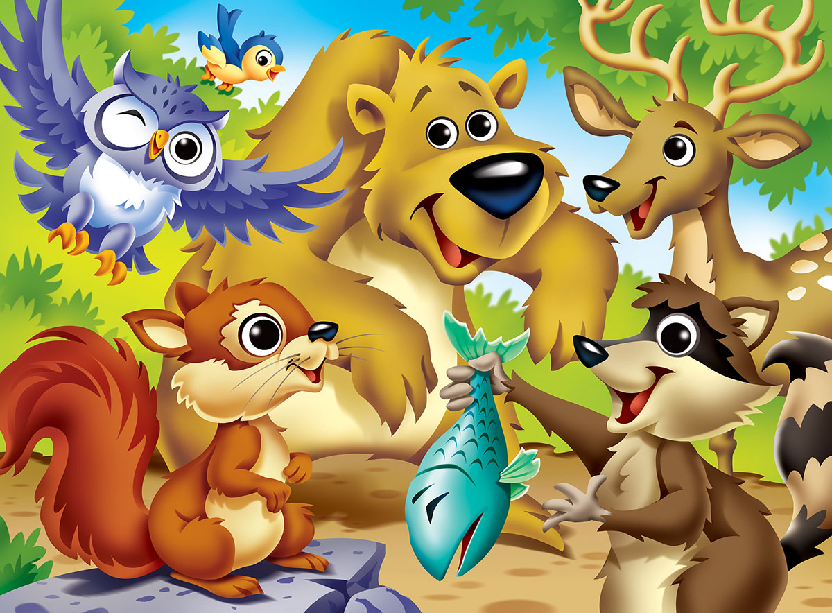 Woodland Animals Animals Jigsaw Puzzle