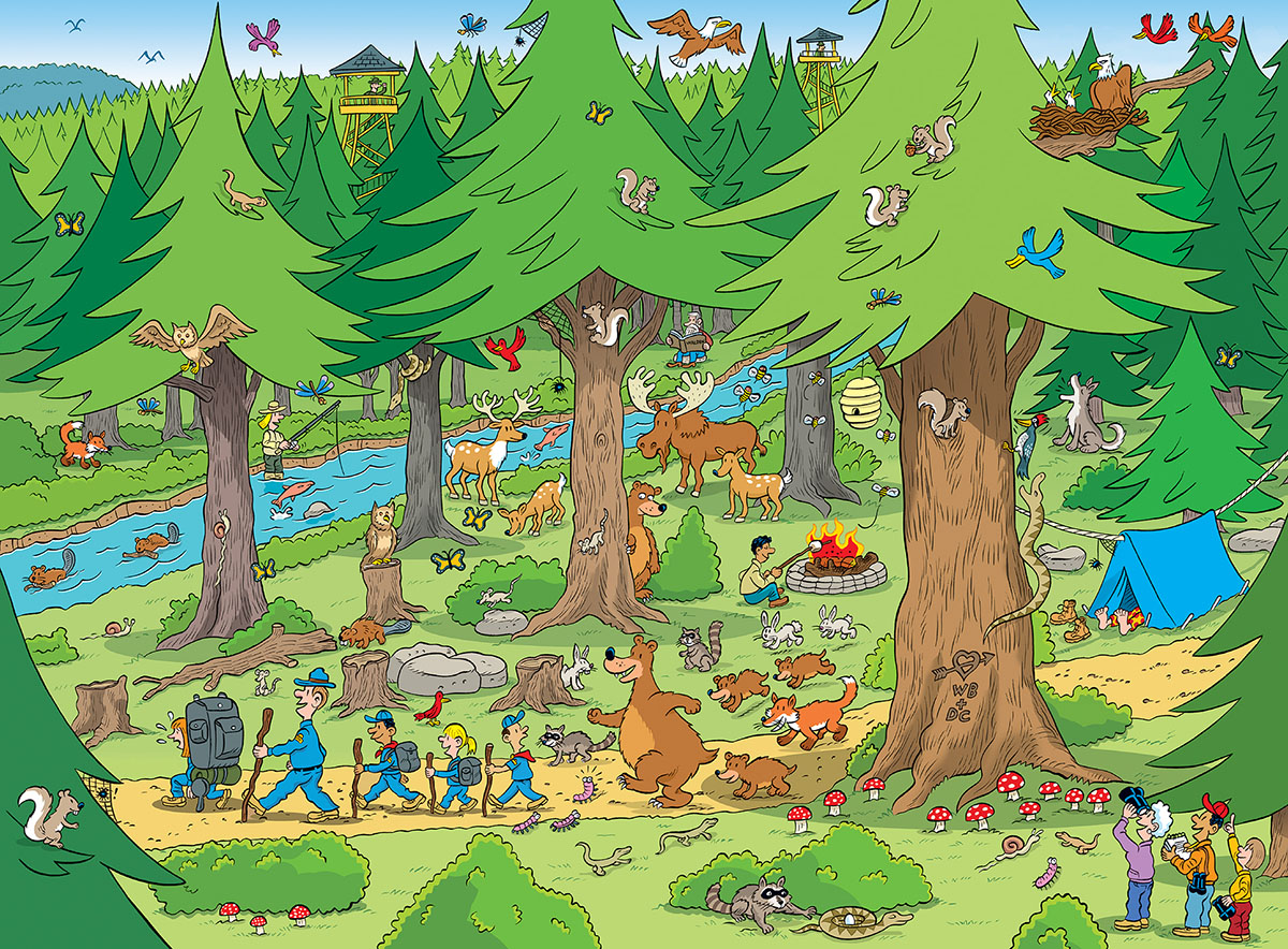 Things to Spot in the Woods Animals Jigsaw Puzzle