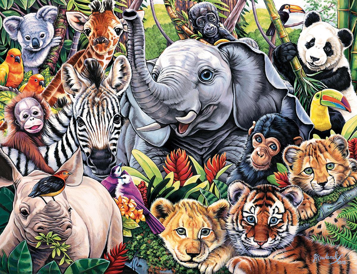 Safari Friends Jungle Animals Jigsaw Puzzle