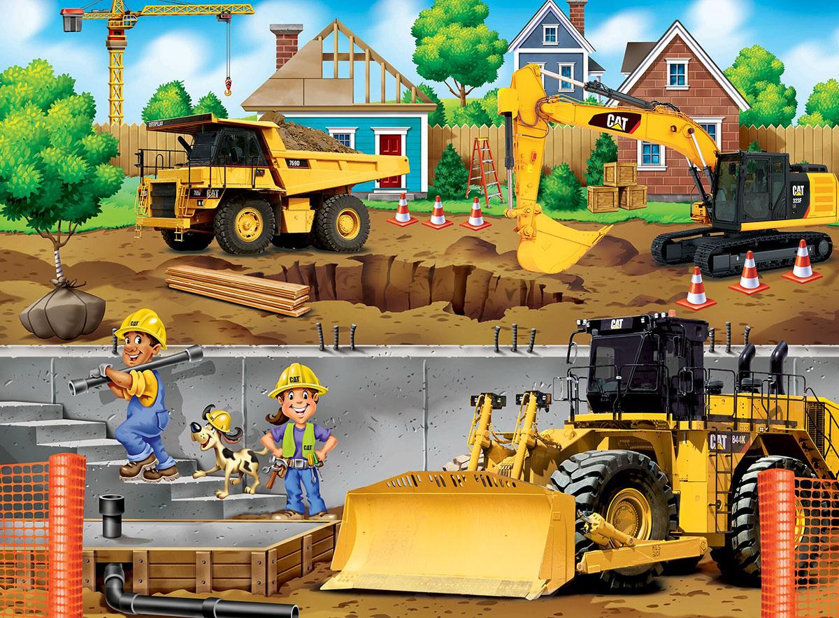 In My Neighborhood Construction Jigsaw Puzzle