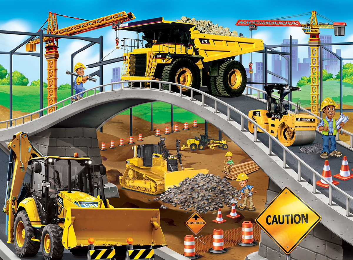 Under the Bridge Construction Jigsaw Puzzle