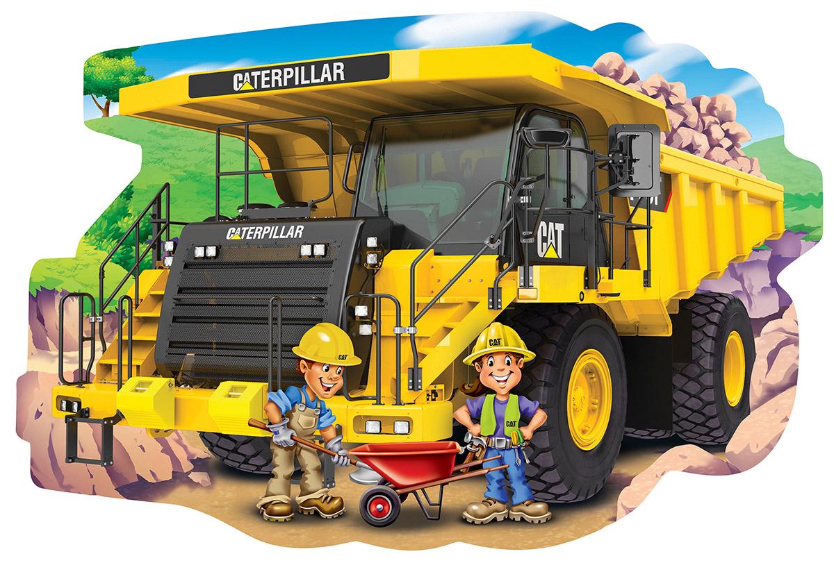 Caterpillar Dump Truck Construction Shaped Puzzle