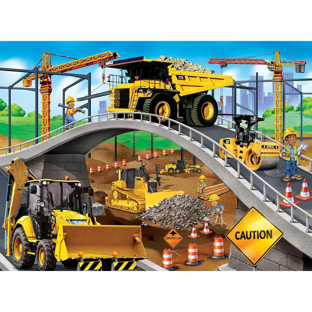 Caterpillar - Under The Bridge Vehicles Jigsaw Puzzle