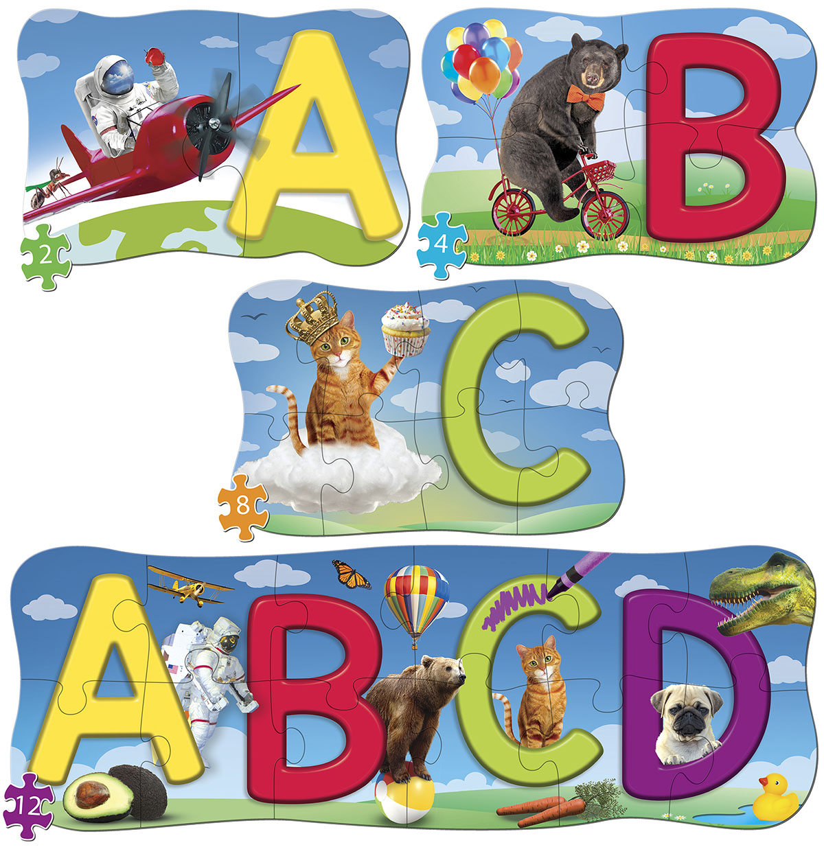 ABCs 4 Pack Puzzle Educational Jigsaw Puzzle