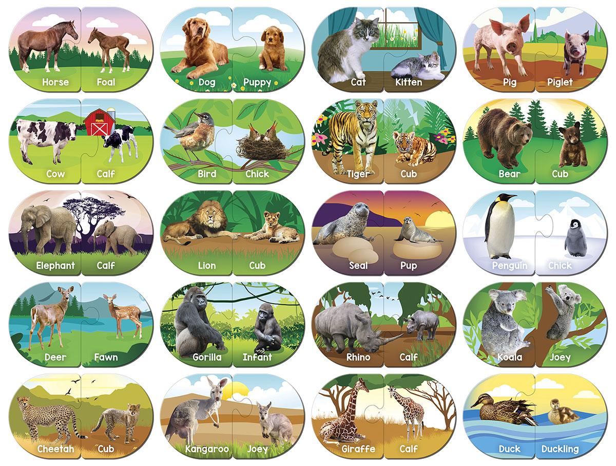 Animals Matching Puzzle Educational Jigsaw Puzzle