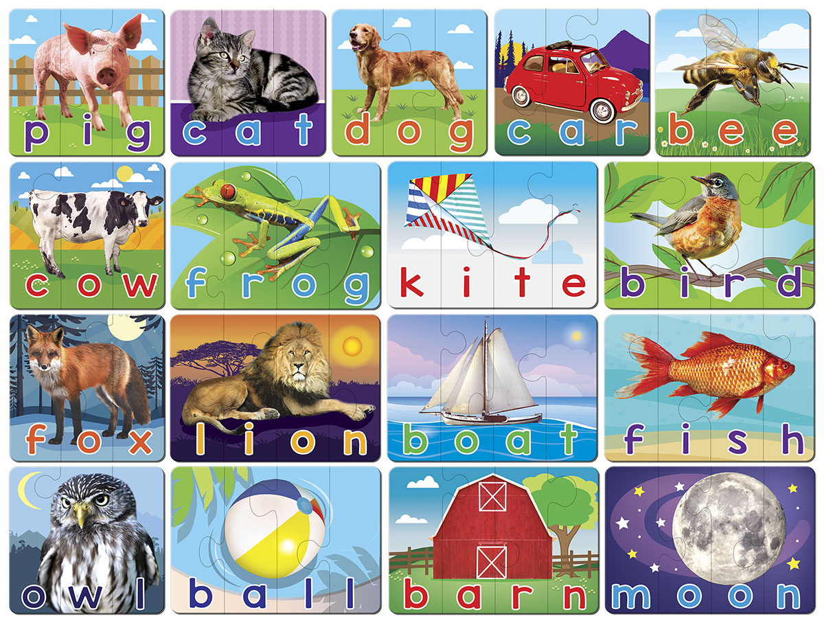 Spelling Matching Puzzle Educational Jigsaw Puzzle