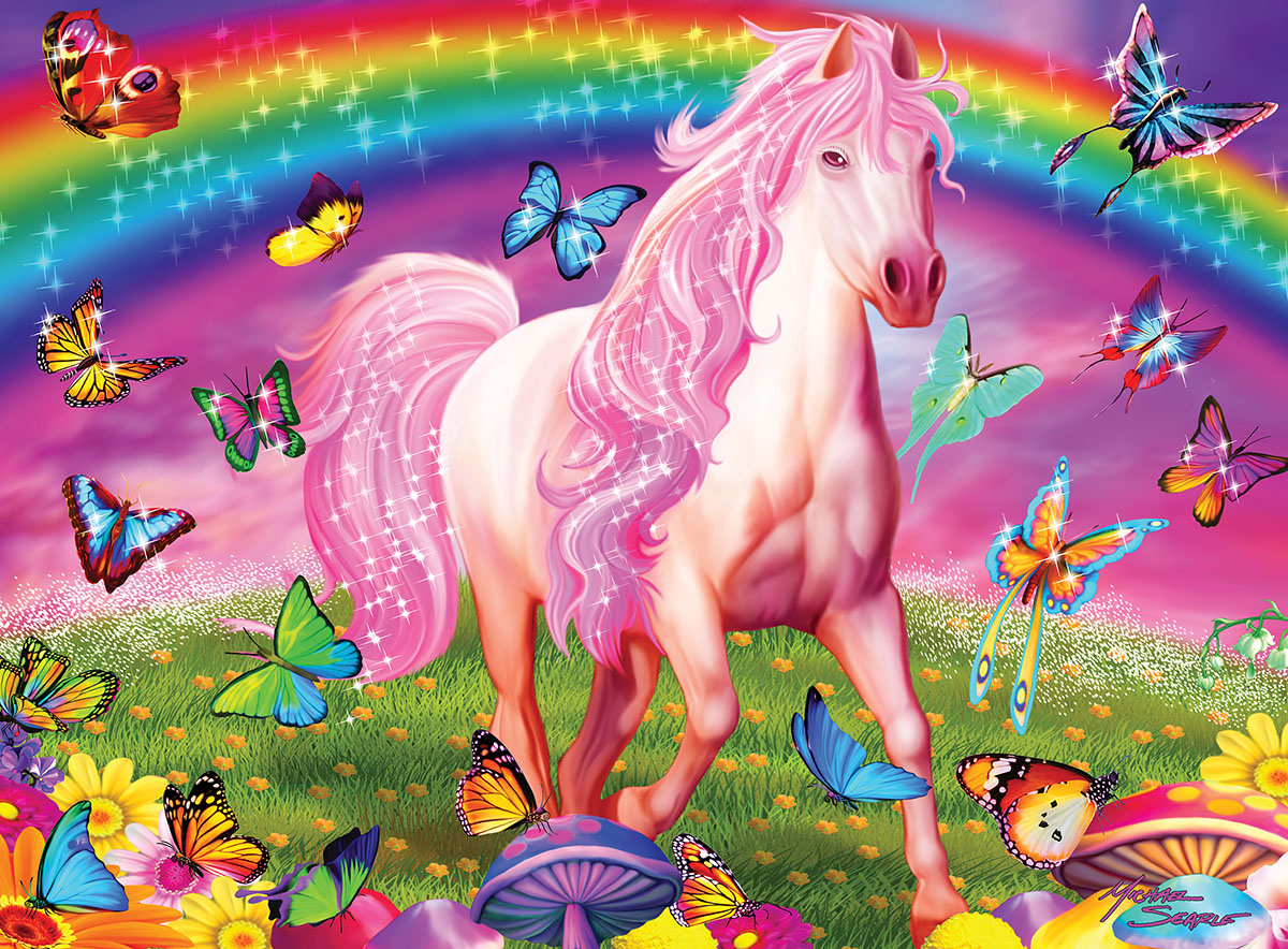 Rainbow World Unicorns Glow in the Dark Puzzle