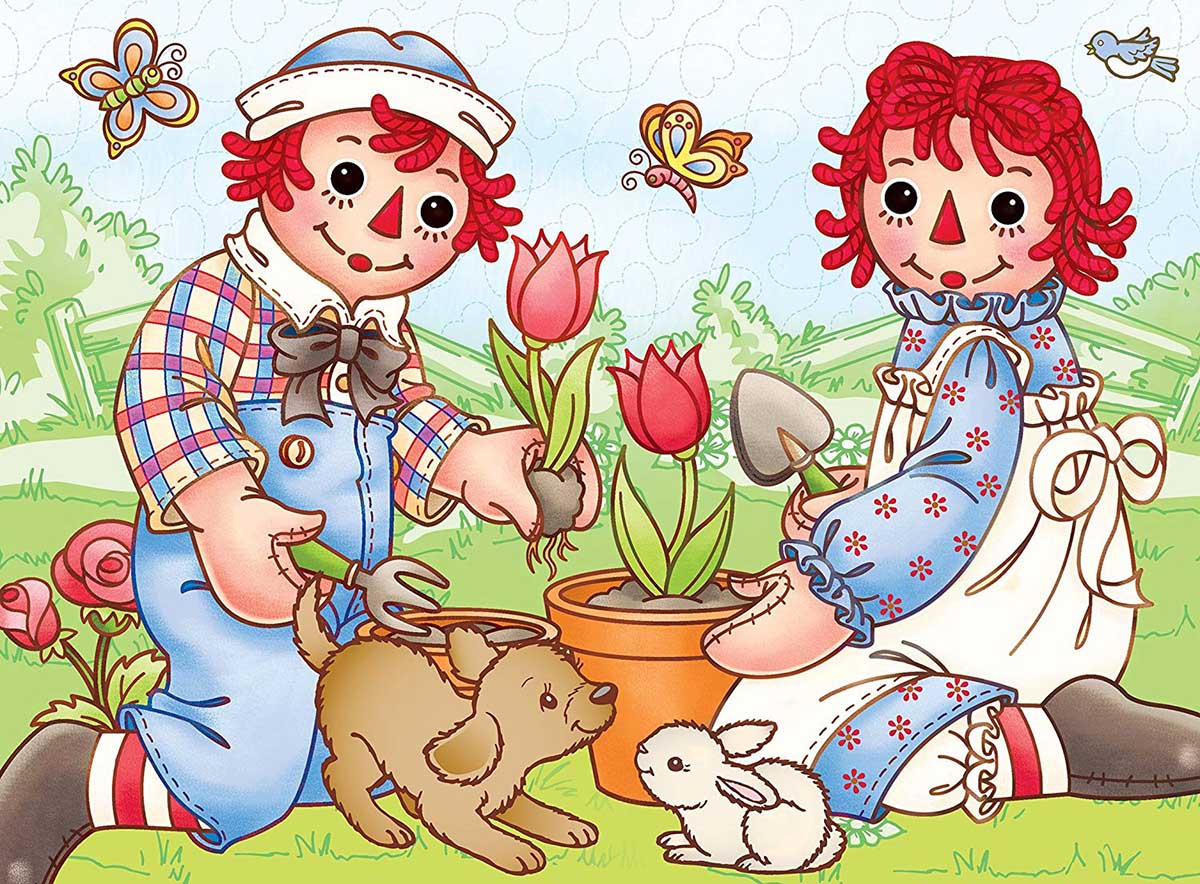 Picnic Friends (Raggedy Ann & Andy) Movies / Books / TV Jigsaw Puzzle