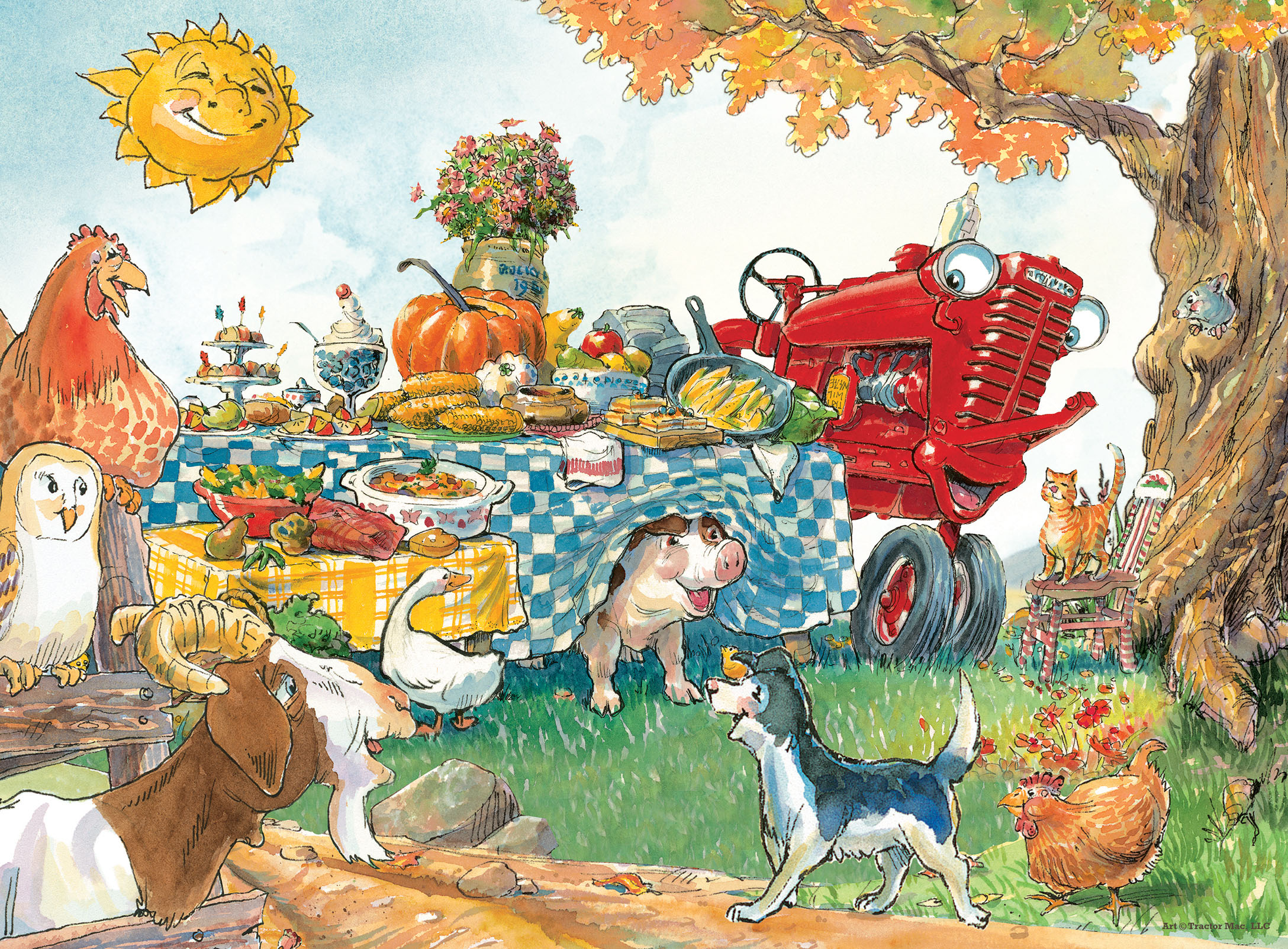 Dinner Time (Tractor Mac) Farm Jigsaw Puzzle