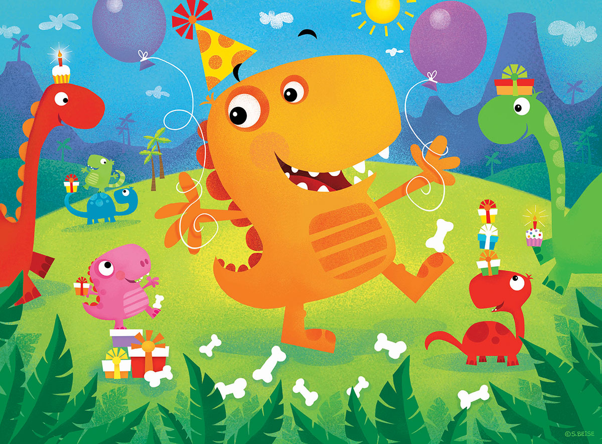 Dino Party Dinosaurs Jigsaw Puzzle