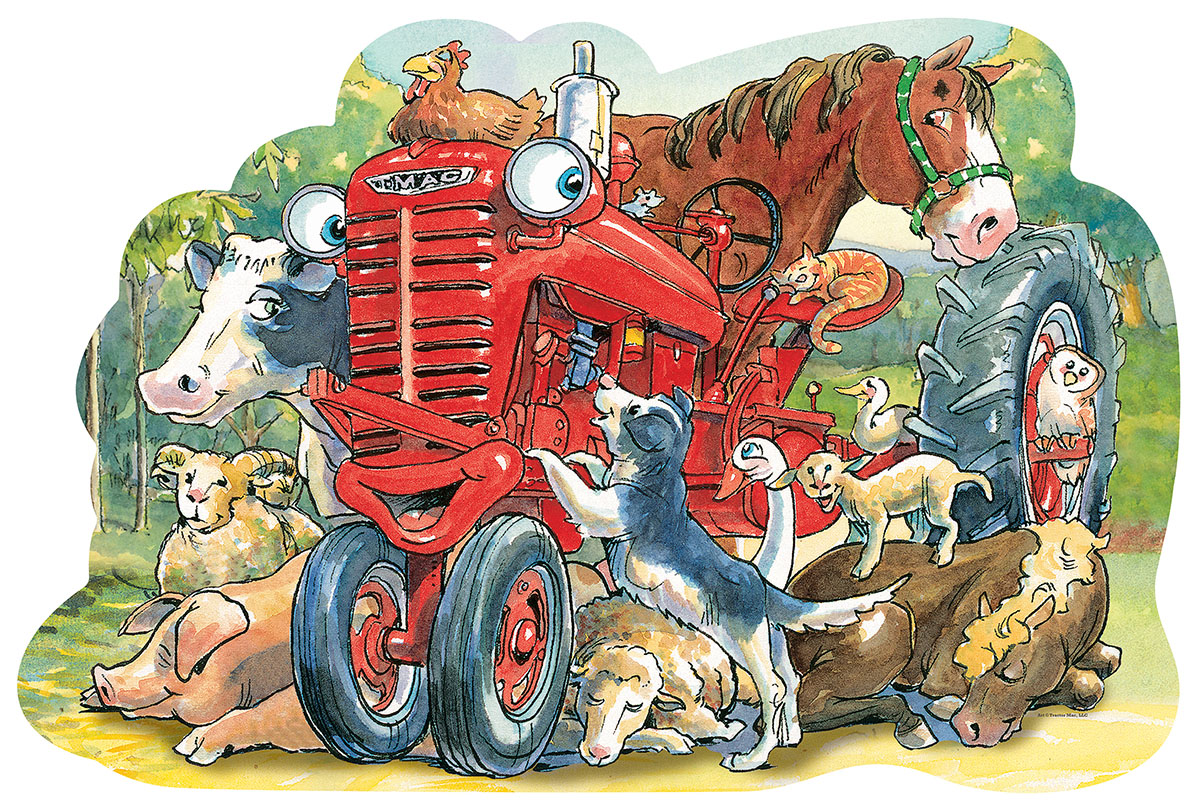 Tractor Mac Farm Shaped Puzzle