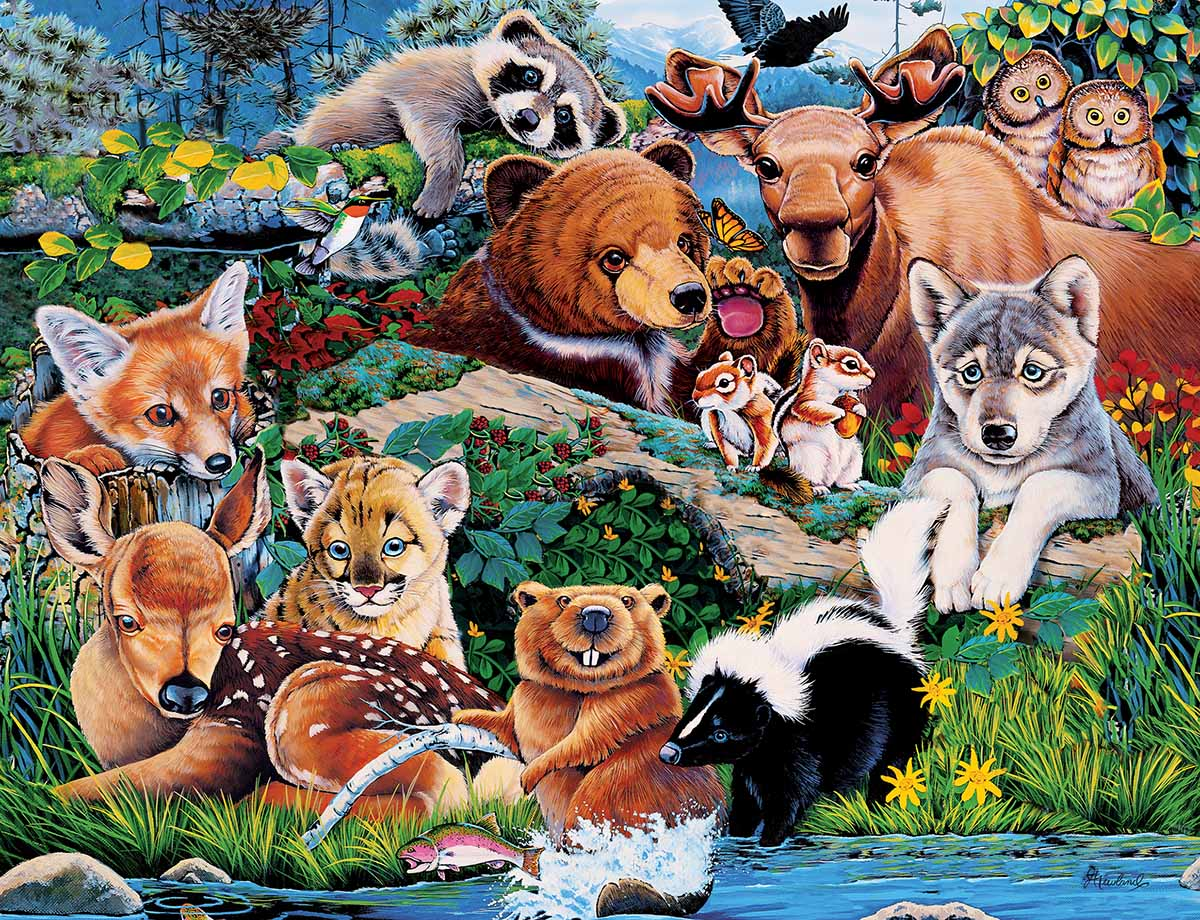 Forest Friends Jungle Animals Jigsaw Puzzle