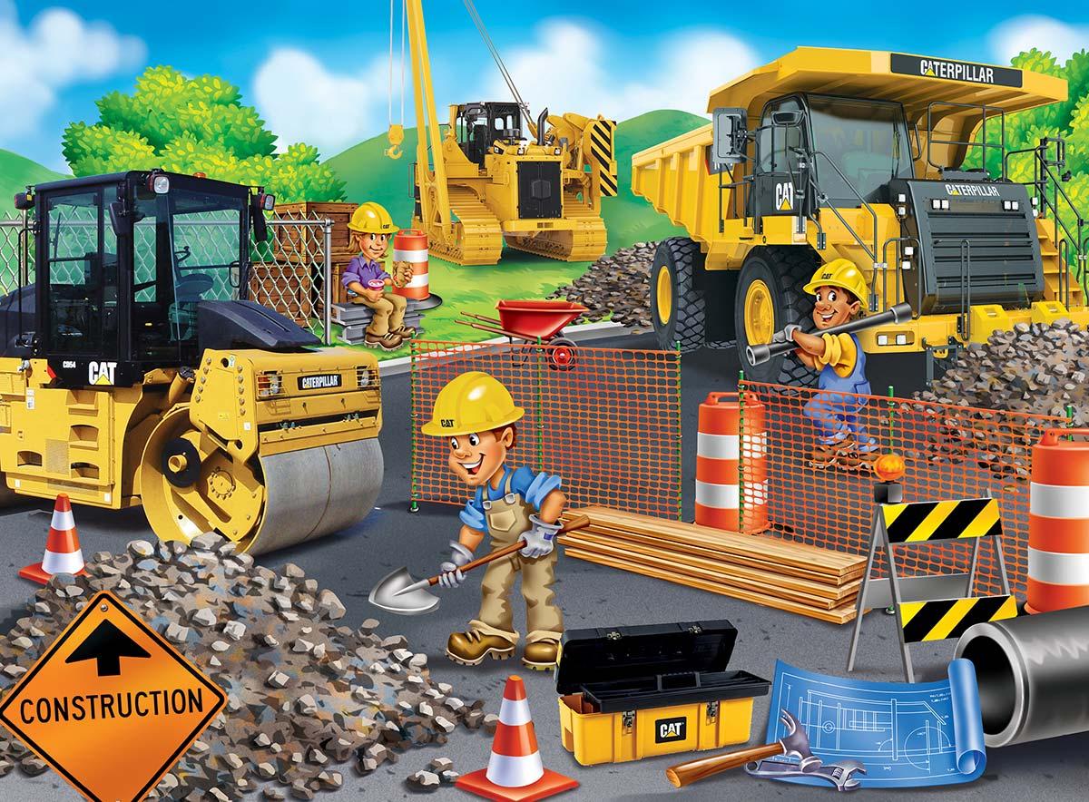 Parking Lot Vehicles Children's Puzzles