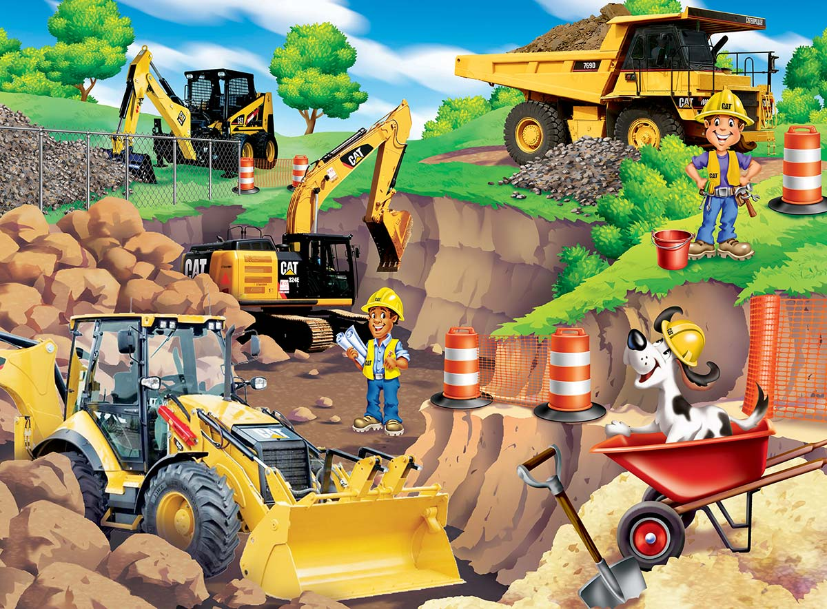Day at the Quarry Vehicles Children's Puzzles