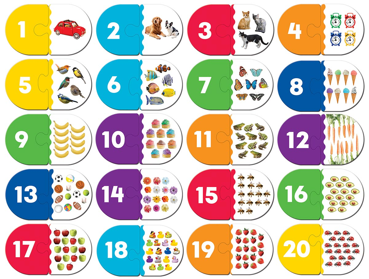 Numbers Matching Educational Large Piece