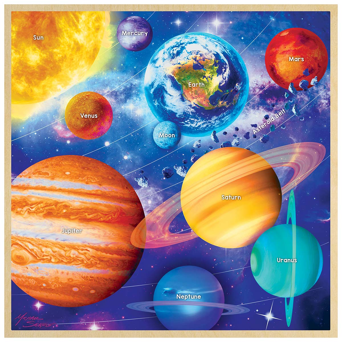 Solar System Wooden Jigsaw Puzzle