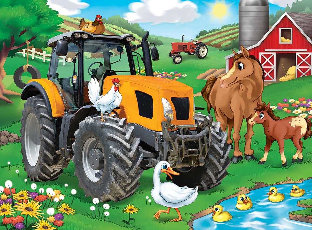 Farmer Miller's Pond - Scratch and Dent Farm Jigsaw Puzzle