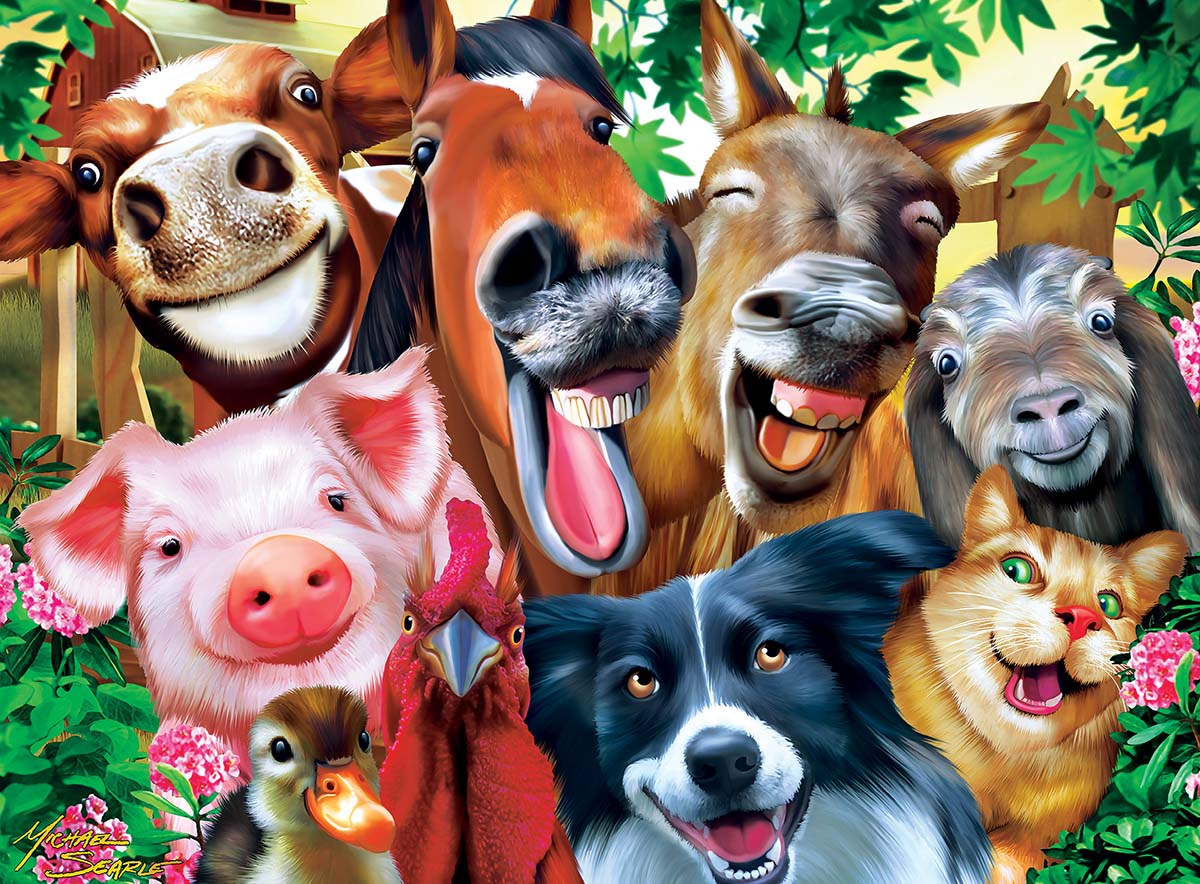 Barnyard Besties - Scratch and Dent Farm Animals Jigsaw Puzzle