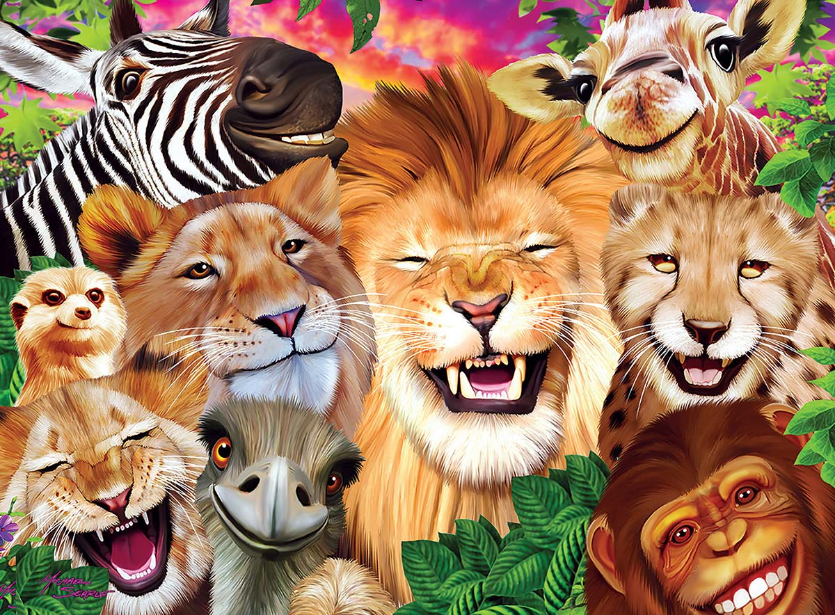 Safari Sillies Jungle Animals Jigsaw Puzzle