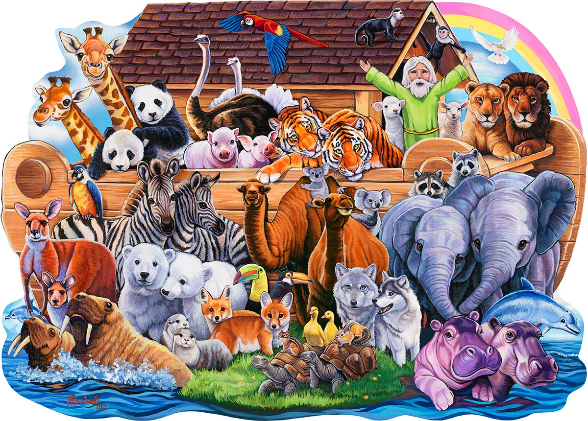 Noah's Ark Religious Shaped Puzzle