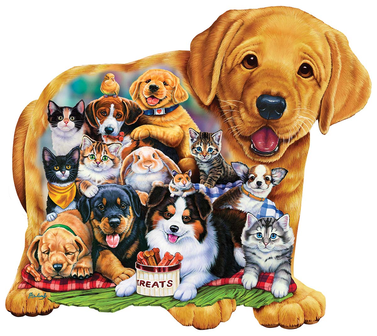 Puppy Pals Cats Shaped Puzzle