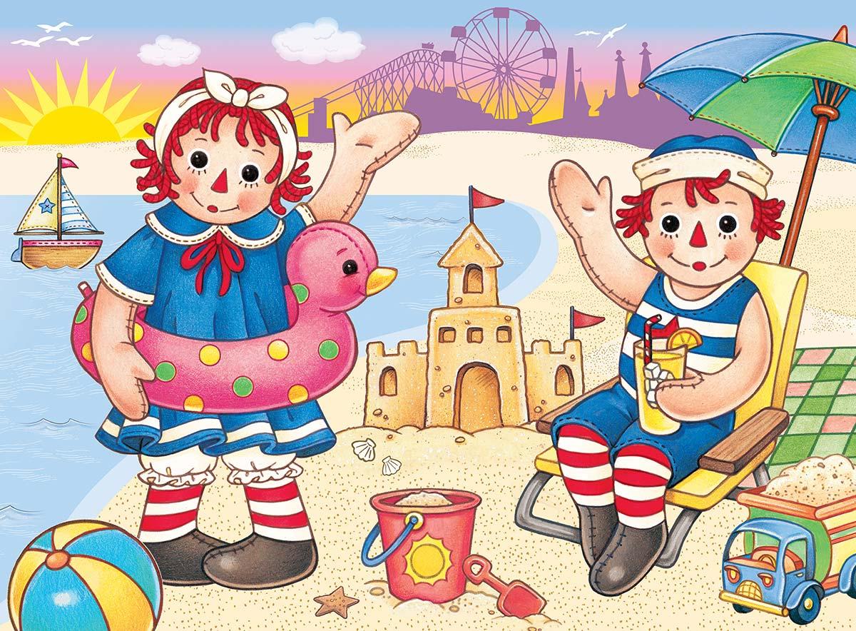 Raggedy Ann & Andy Beach Fun Movies / Books / TV Jigsaw Puzzle