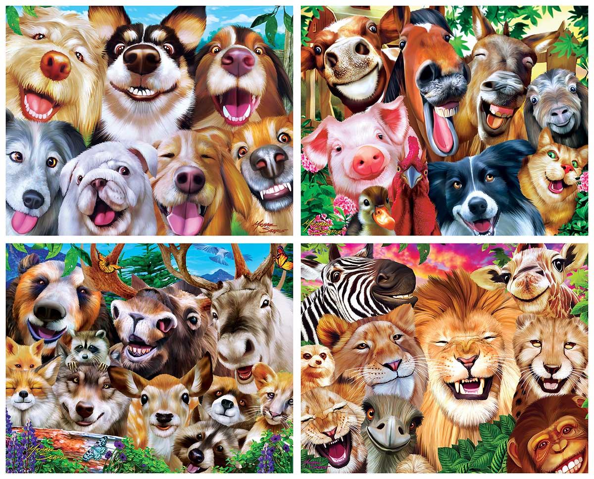 Selfies Animals Jigsaw Puzzle