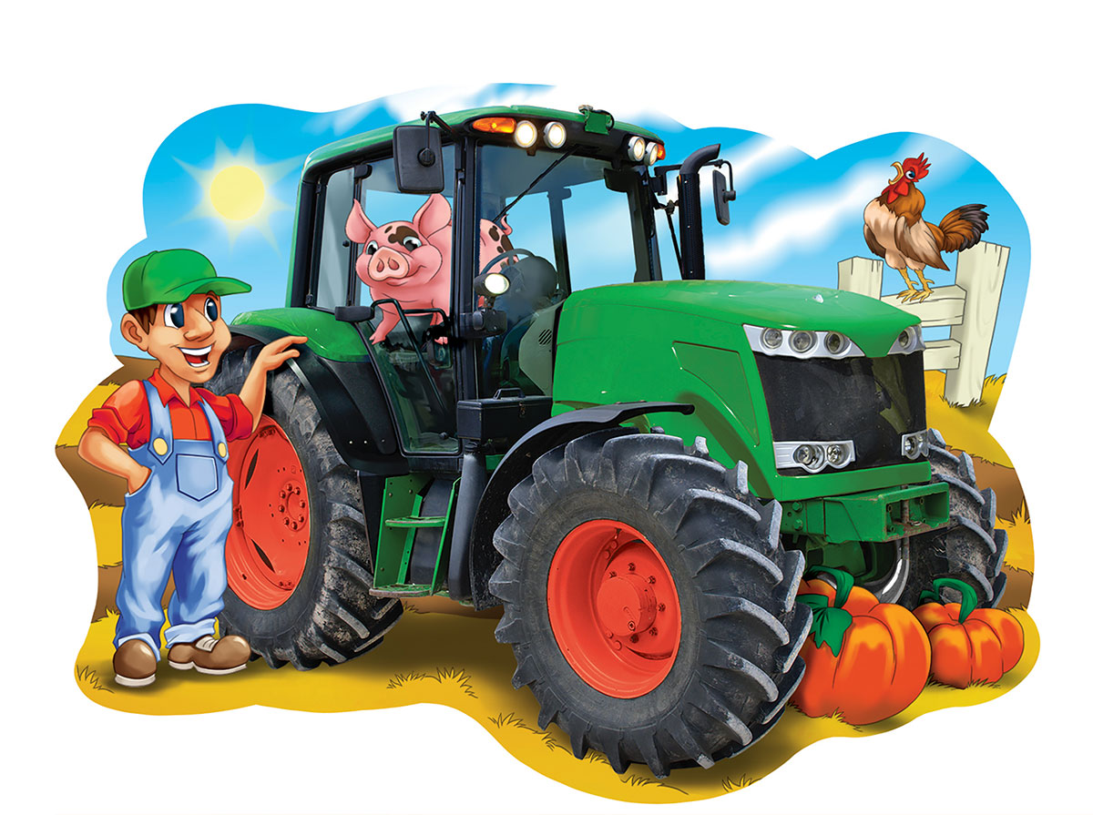 Tractor Town Farm Jigsaw Puzzle