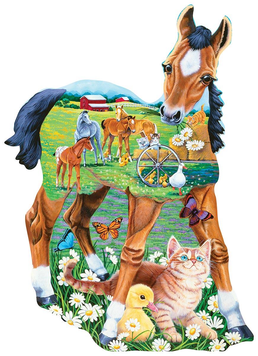 Pony Playtime Horses Shaped Puzzle