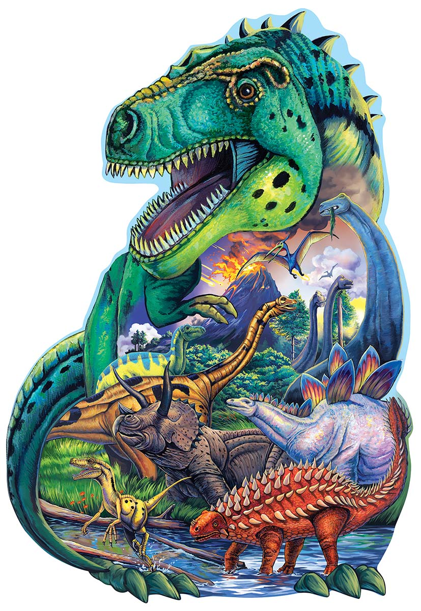 Dinosaur Days Dinosaurs Shaped Puzzle
