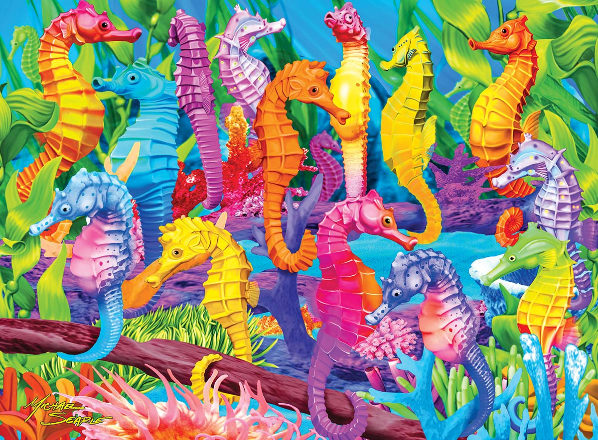 Singing Seahorses Under The Sea Glow in the Dark Puzzle