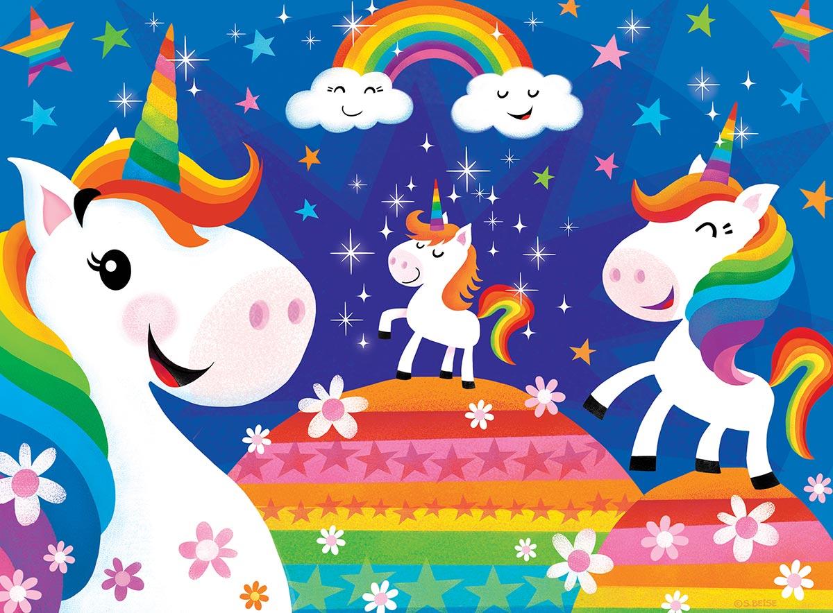 Rainbow Unicorns Unicorns Jigsaw Puzzle