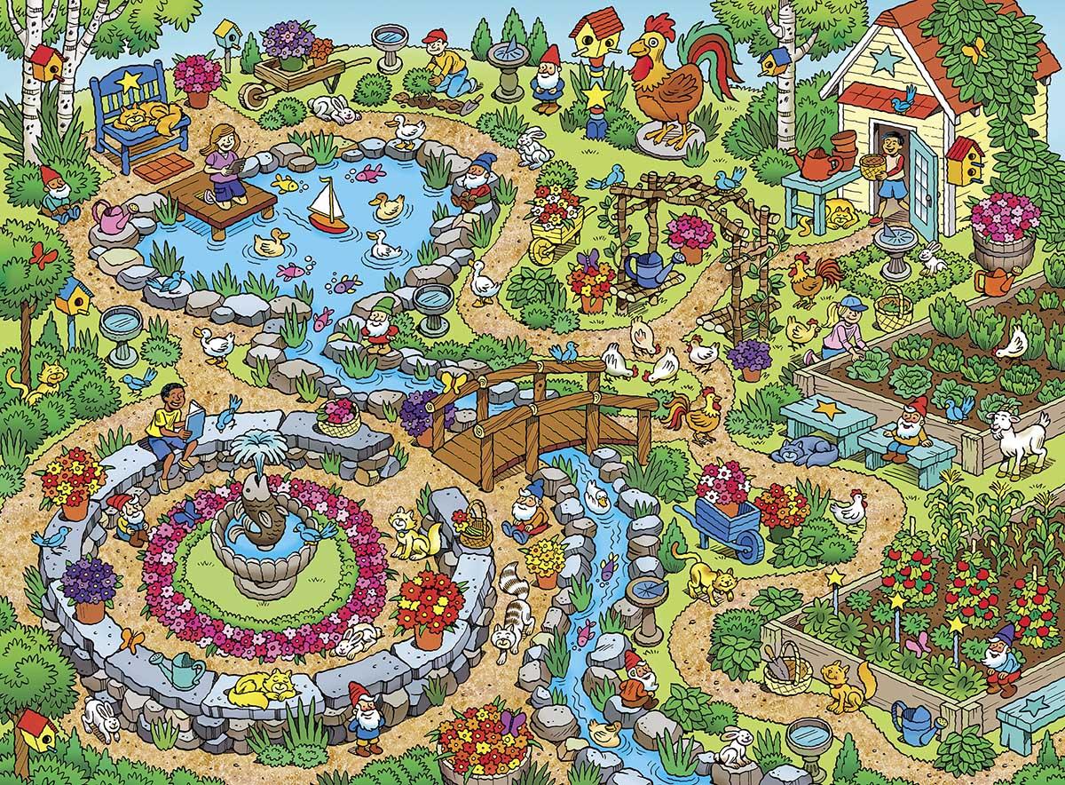In the Garden Garden Jigsaw Puzzle