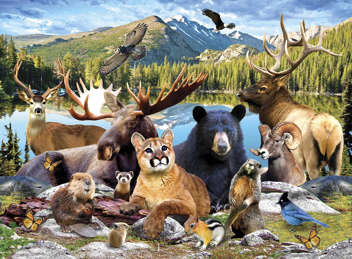 Rocky Mountain National Park Animals Jigsaw Puzzle