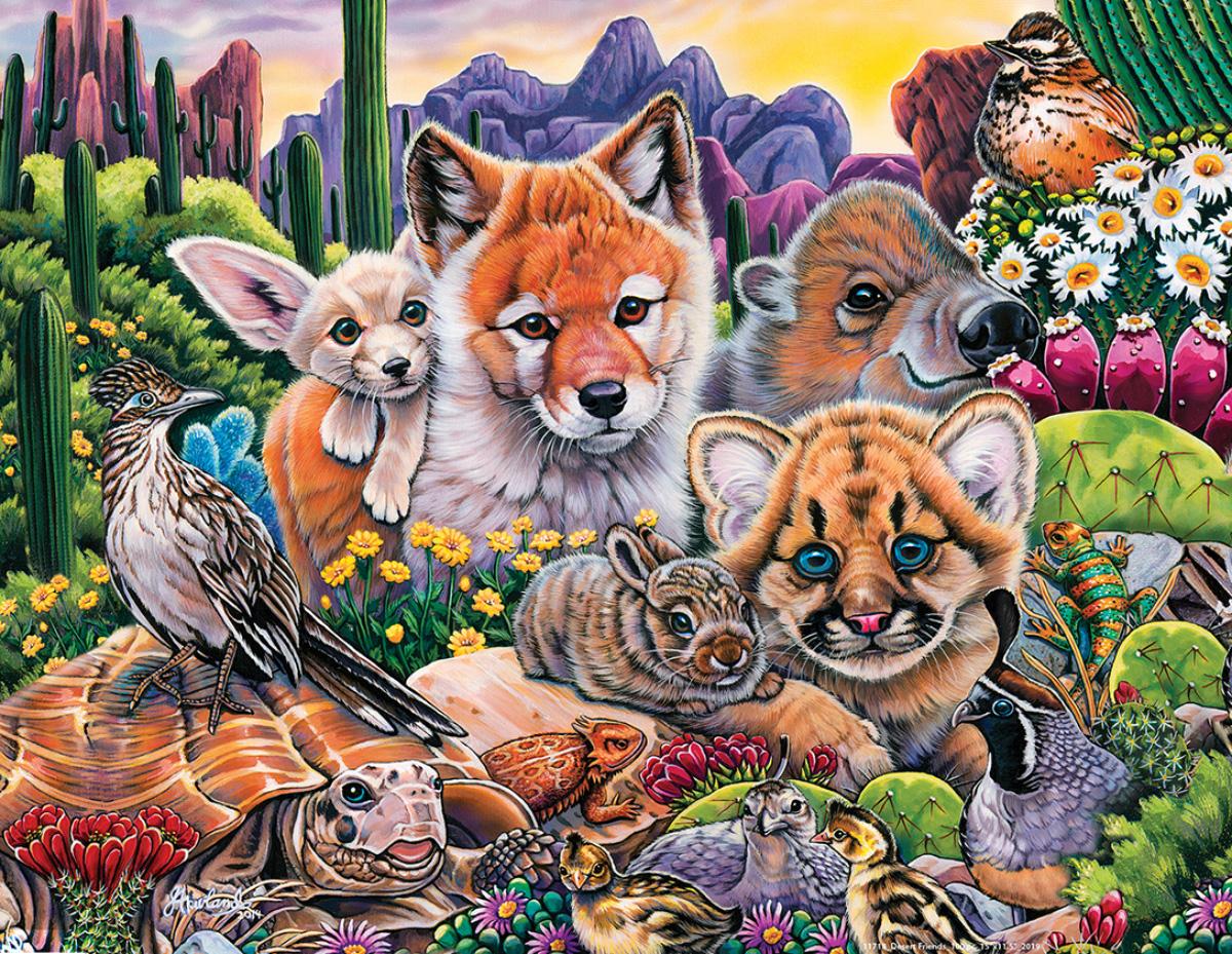Desert Friends Wildlife Jigsaw Puzzle