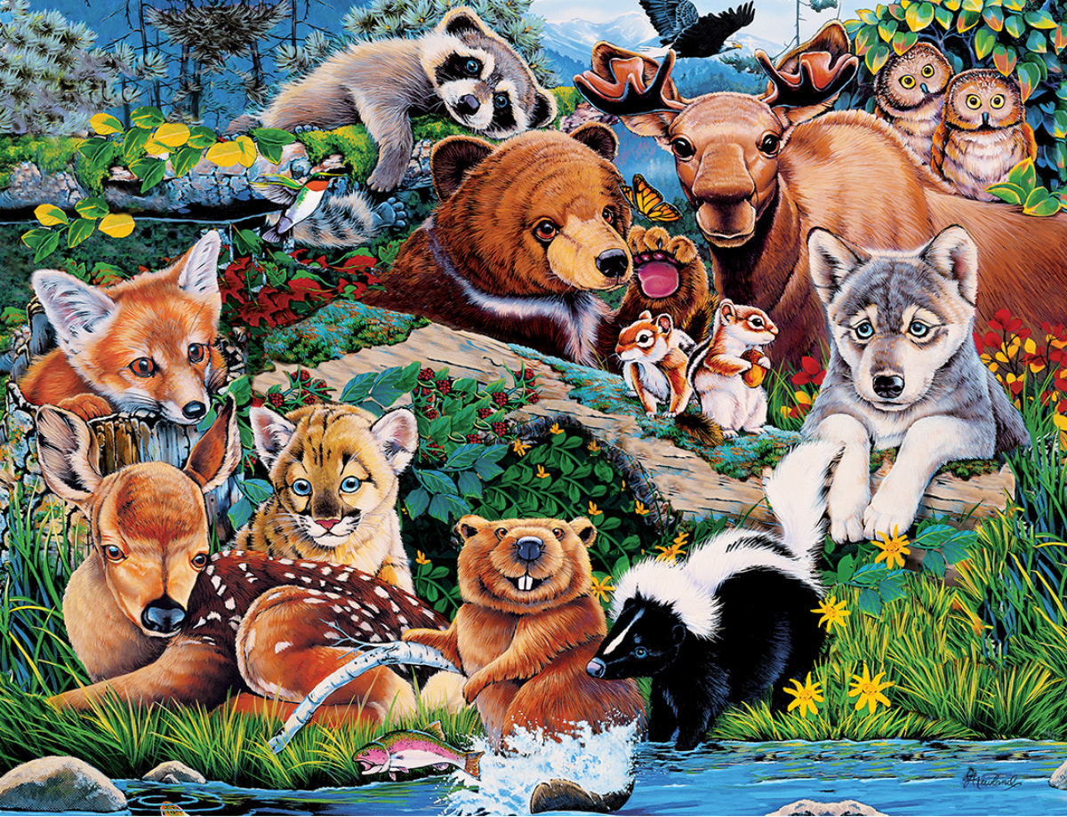 Forest Friends Animals Jigsaw Puzzle