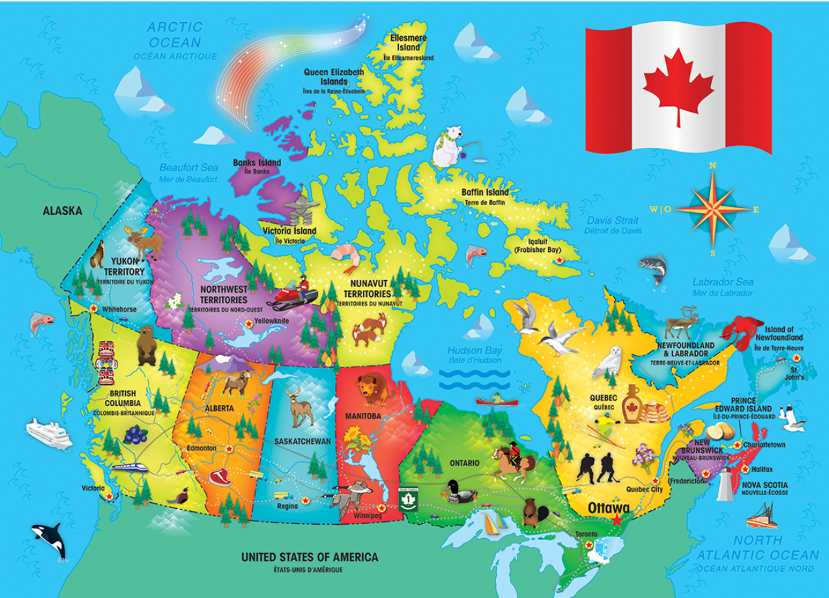 Canada Map Educational Shaped Puzzle
